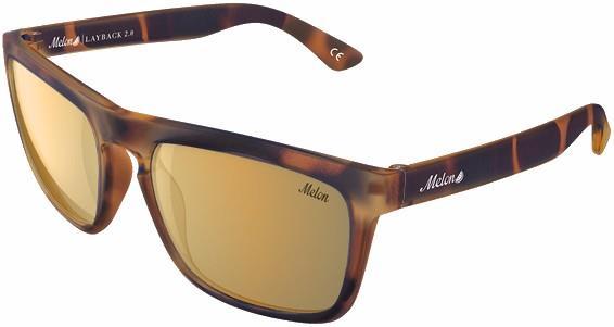 Melon Layback 2.0 Gold Chrome Polarized Sunglasses, M/L Luxe