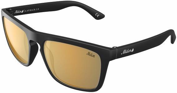 Melon Layback 2.0 Gold Chrome Polarized Sunglasses, M/L 24k