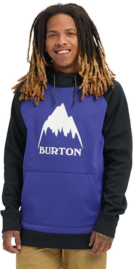 Burton Crown Bonded Pullover Ski/Snowboard Hoodie, S Royal Blue/Black