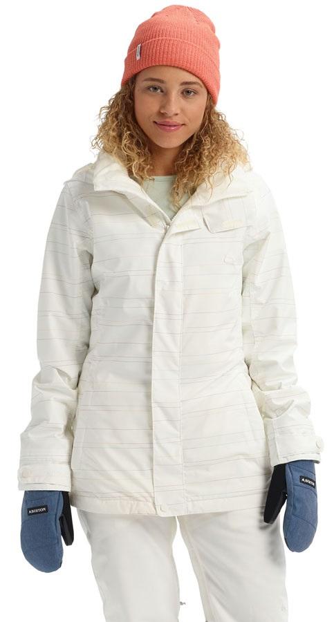 Burton Jet Set Women's Snowboard/Ski Jacket, XXS Stout White Spacedye
