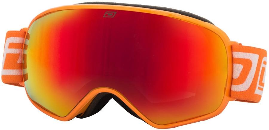 Dirty Dog Bullet Red Fusion Snowboard/Ski Goggles, L Orange