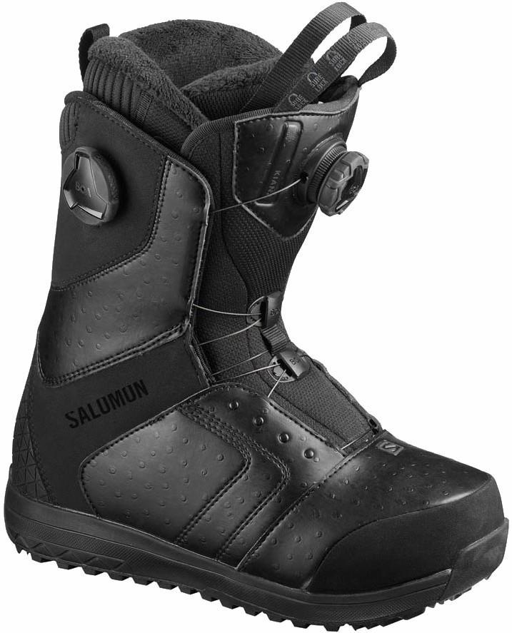 Salomon Kiana Focus BOA Womens Snowboard Boots, UK 4.5 Black 2020