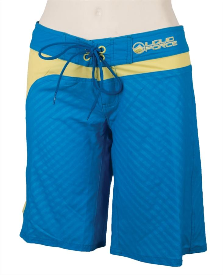 Liquid Force Drop In Ladies' Board Shorts, UK 8-10, Euro 36-38 Blue