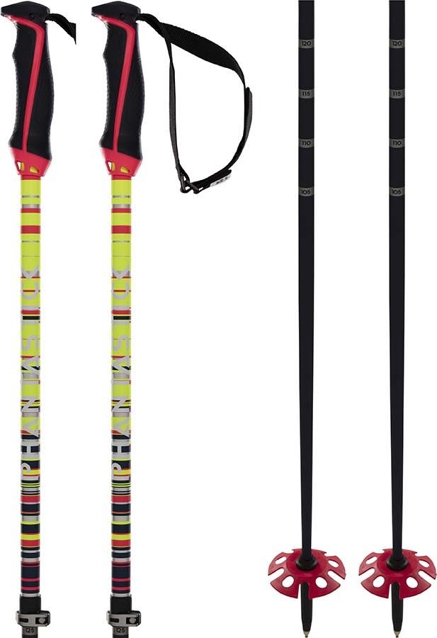 Volkl Phantastick Fr Freeride Ski Poles, Adjustable Yellow/Black