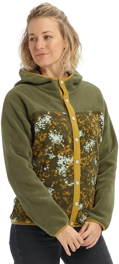 Burton Hearth Snap-Up Women's Fleece Hoodie, S Keef/Wheeler Camo