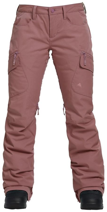 Burton Gloria Insulated Women's Snowboard/Ski Pants, XL Rose Brown