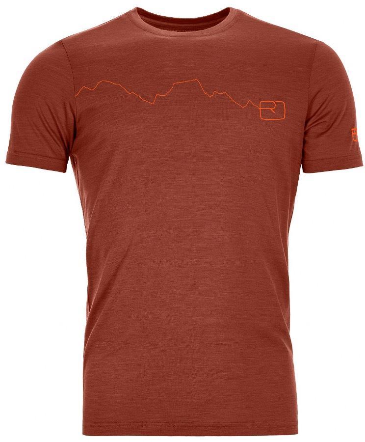 Ortovox Adult Unisex 120 Tec Mountain Merino Wool T-Shirt, L Clay Orange