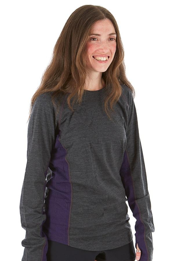 Icebreaker Womens Bodyfitzone 200 Women's Long Sleeve Crew Top, L Grey