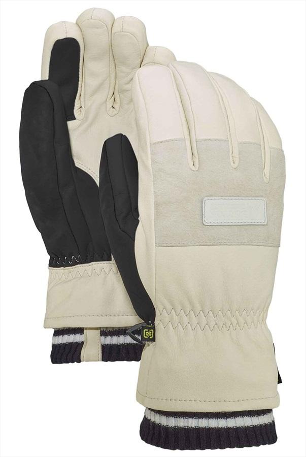 Burton Free Range Leather Ski/Snowboard Gloves, S Stout White