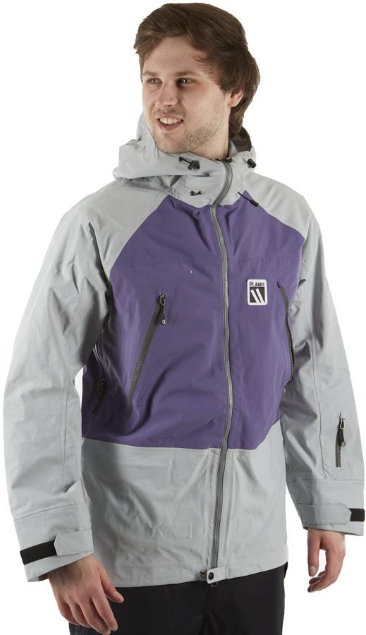 Planks Yeti Hunter 3L Snowboard/Ski Jacket, M Purple/Grey