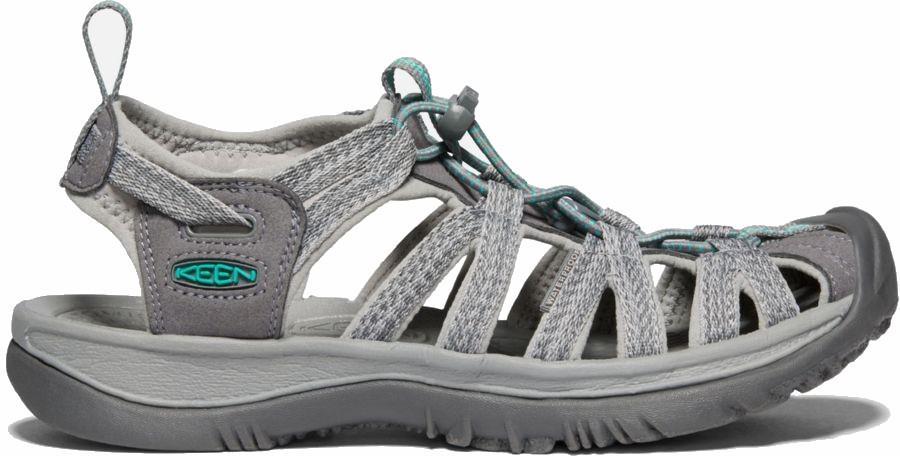 Keen Womens Whisper Women's Walking Sandals, Uk 5 Mediumgrey/Peacock Green