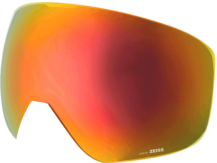 Melon Jackson Ski/Snowboard Goggle Lens, One Size Red Chrome