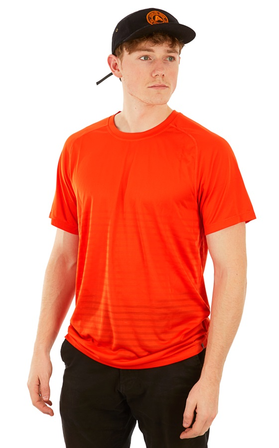 Mountain Hardwear MHW VNT Short Sleeve Shirt, L Slate Orange