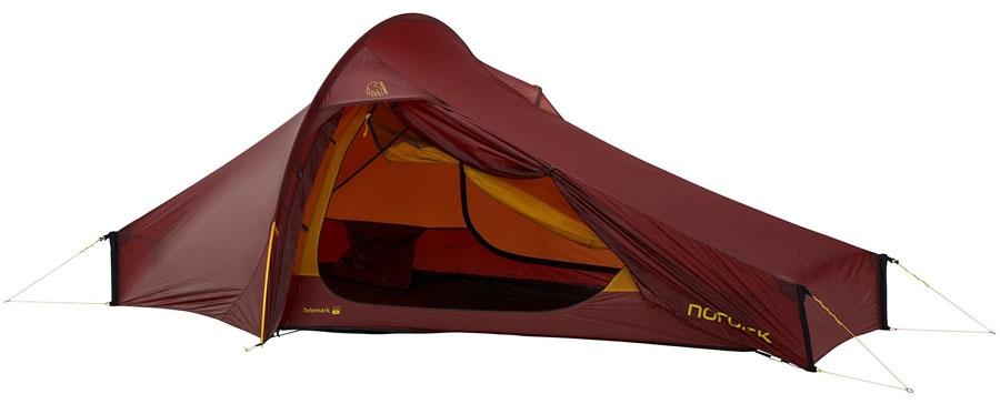 Nordisk Telemark 2.2 LW Ultralight Hiking Tent, 2 Man Burnt Red