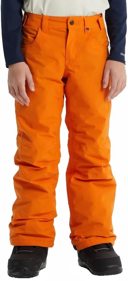 Burton Boys Barnstorm Snowboard Pants, Medium Russet Orange