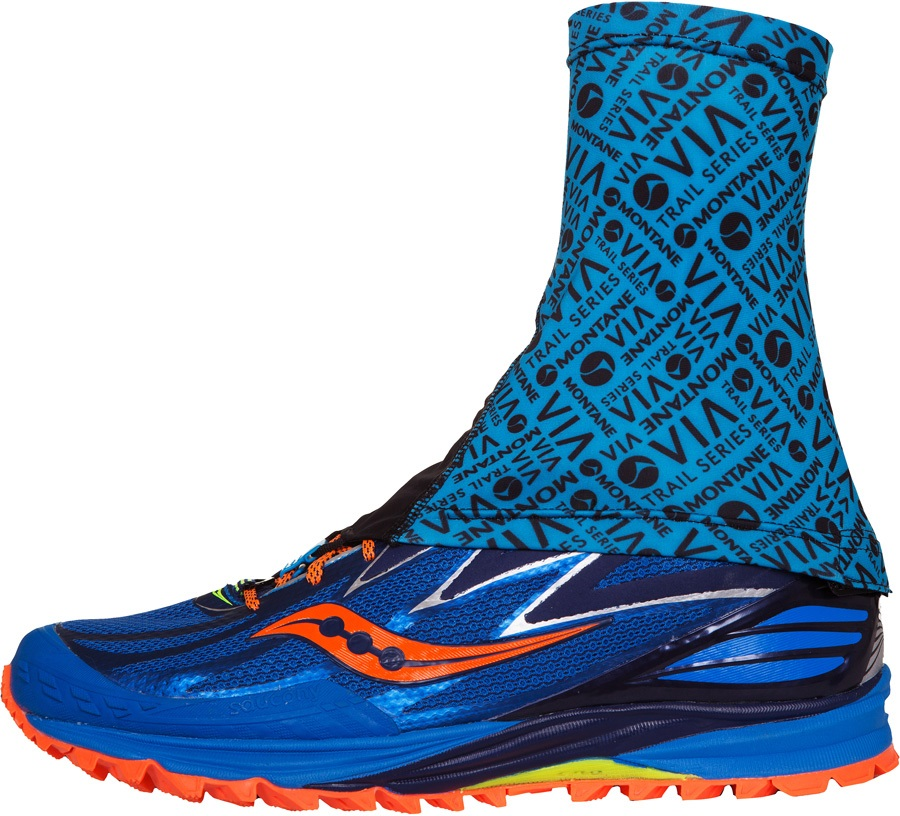 Montane Via Sock-It Short Trail Running Ankle Gaiter, S/M Blue Spark