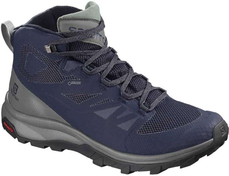 Salomon OUTline Mid GTX Gore-Tex Hiking Boots, UK 7 Medieval Blue