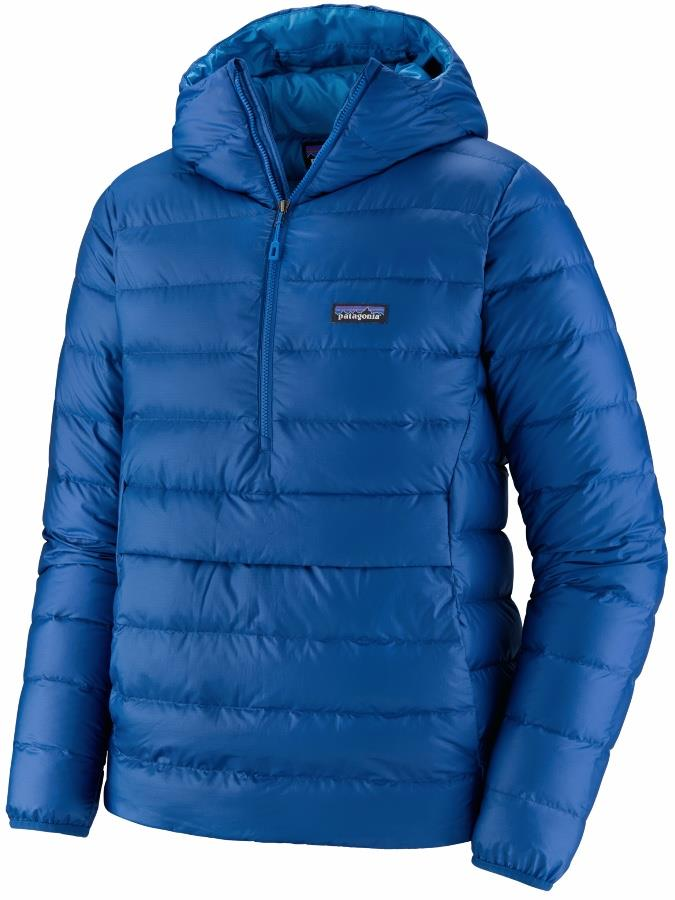 Patagonia Men's Down Sweater Hoody Pullover Insulated Jacket, L Blue