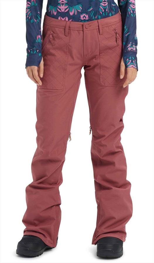 Burton Vida Women's Ski/Snowboard Pants, S Rose Brown