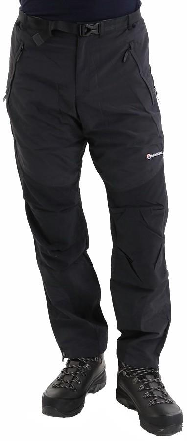 Montane Adult Unisex Terra Pants Regular 4 Season Hiking/Walking Trousers, Xs Black