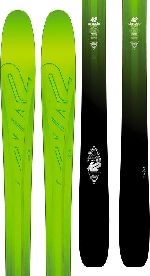 K2 Pinnacle 95 Skis 177cm Black/Green Ski Only 2017