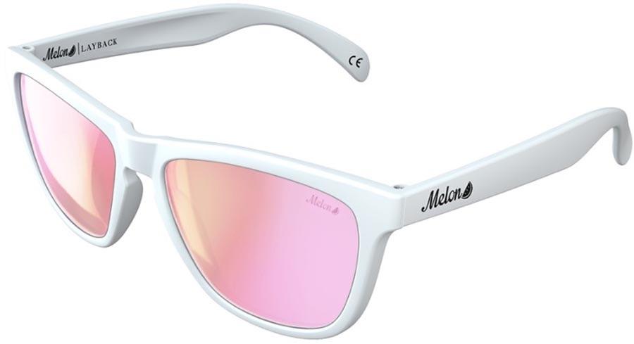 Melon Layback Pink Chrome Polarized Sunglasses, Marshmallow