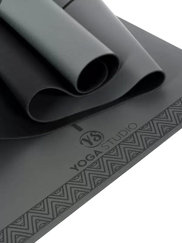 Yoga Studio The Grip Alignment Yoga/Pilates Mat, 4mm Charcoal