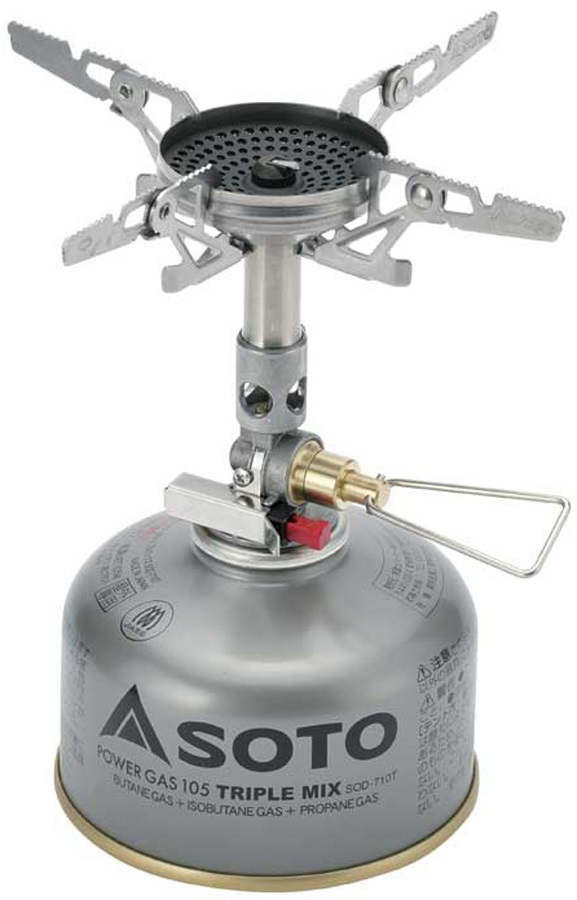 Soto Windmaster + Micro Regulator Compact Camping Stove, Silver