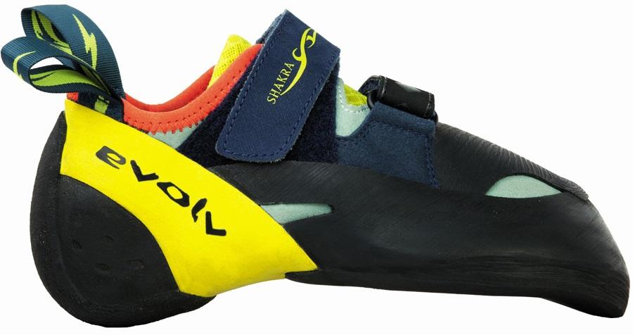 Evolv Womens Shakra Rock Climbing Shoe, UK 4 | EU 37 Aqua Neon