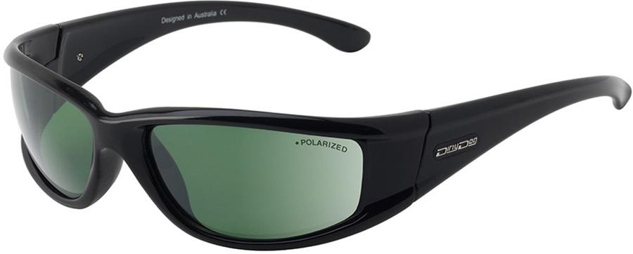Dirty Dog Banger Green Polarized Sunglasses, M Black