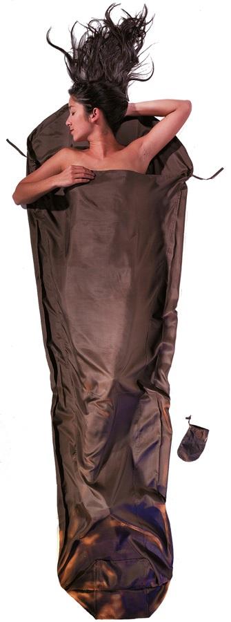 Cocoon MummyLiner Silk Ultralight Sleeping Bag Liner, Muddy Elephant