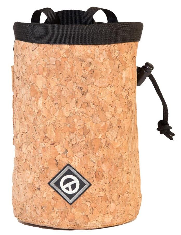 Charko Tube Rock Climbing Chalk Bag, Regular Cork