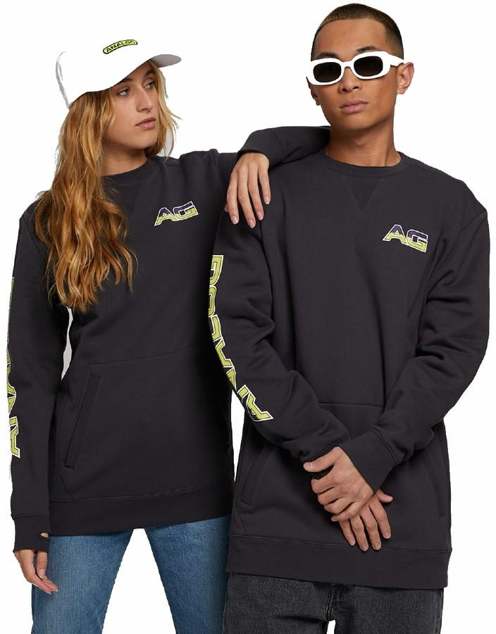 Analog Adult Unisex Enclave Crew Ski/Snowboard Sweatshirt, S Phantom
