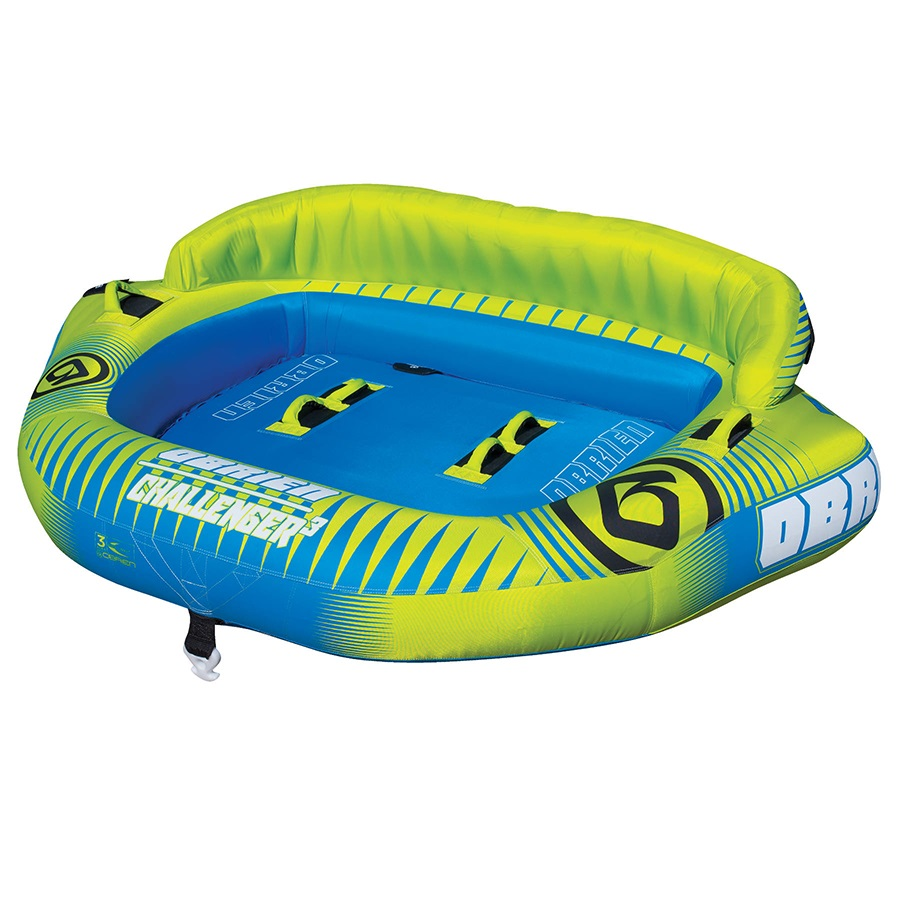 O'Brien Challenger Seated Towable Inflatable Tube, 3 Rider Yellow 2021