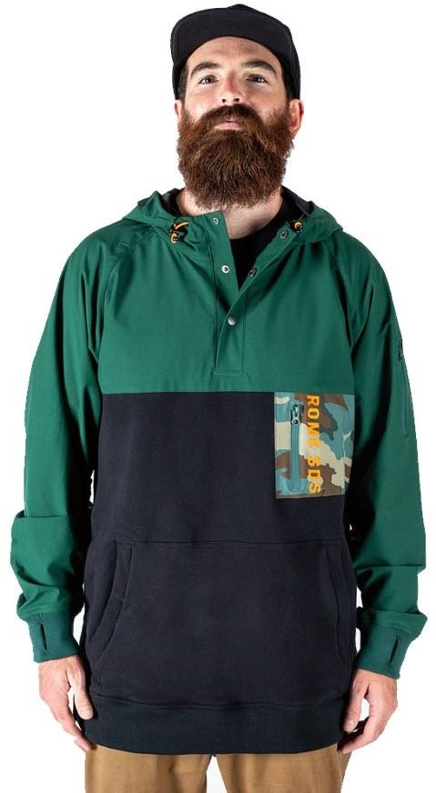 Rome Riding Snap Hoodie Ski/Snowboard Technical Pullover, M Olive