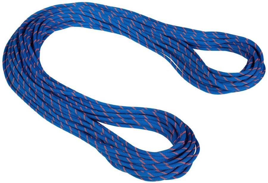 Mammut 7.5mm Alpine Sender Dry Rope Rock Climbing Rope, 60m X 7.5mm Blue-Safety Orange