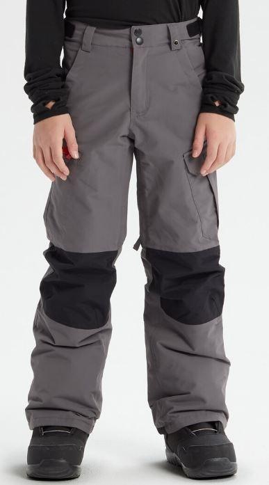 Burton Boys Exile Cargo Snowboard Pants, L Castlerock