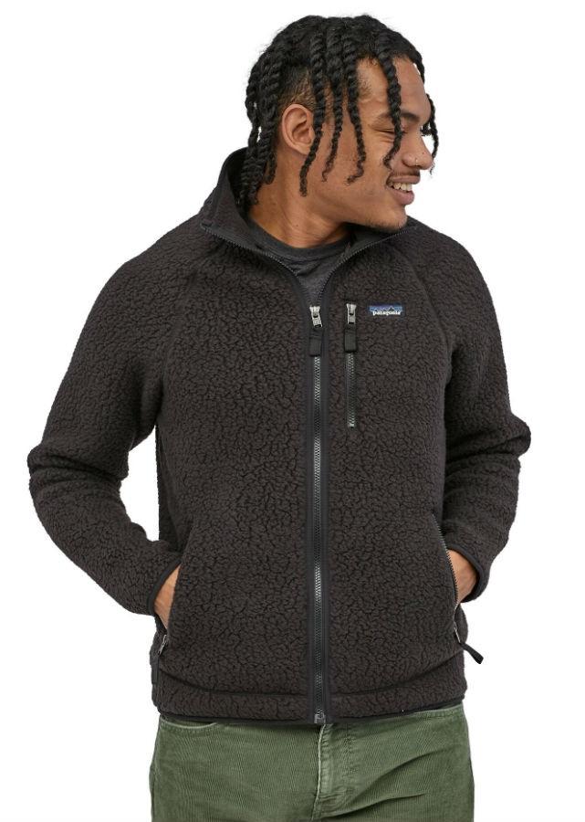Patagonia Retro Pile Full Zip Fleece Jacket, S Black