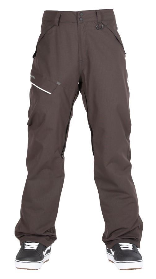 Bonfire Surface Textured Ski/Snowboard Pants, L Black