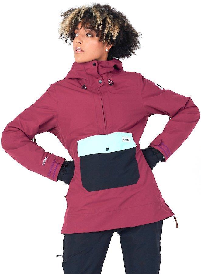 Planks Overstoke Anorak Women's Ski/Snowboard Jacket, Xs Plum