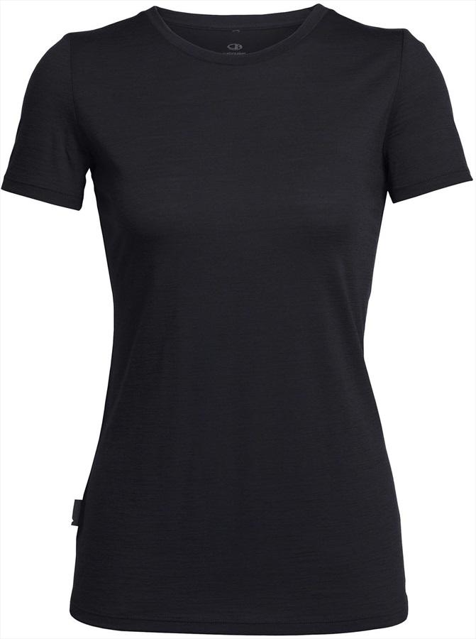 Icebreaker Tech Lite Short Sleeve Crew Women's Merino T-Shirt, L Black