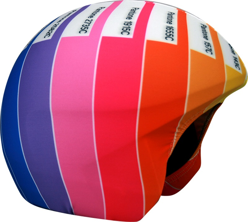 Coolcasc Printed Cool Ski/Snowboard Helmet Cover, Pantone