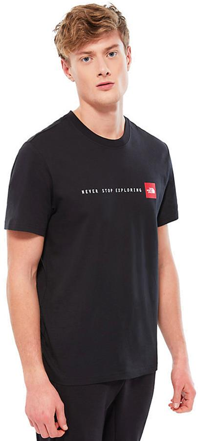 The North Face Never Stop Exploring Short Sleeve T-Shirt, M TNF Black