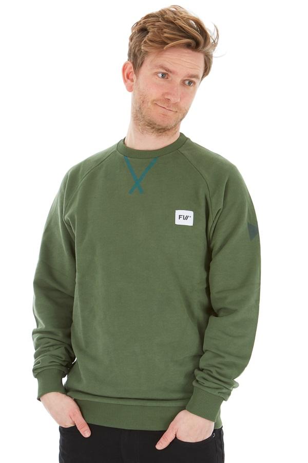 FW Adult Unisex Source Crew Neck Sweatshirt, XXL Green