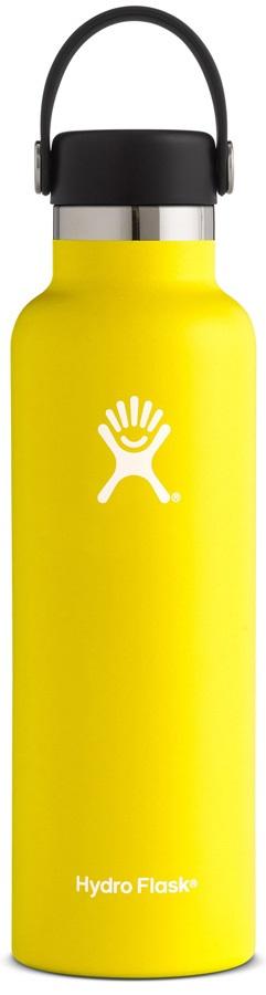 Hydro Flask 21oz Standard Mouth With Flex Cap Water Bottle, Lemon