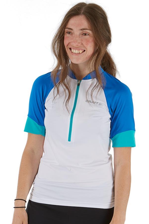 Craft Womens Classic Jersey Half-Zip T-Shirt, XL White