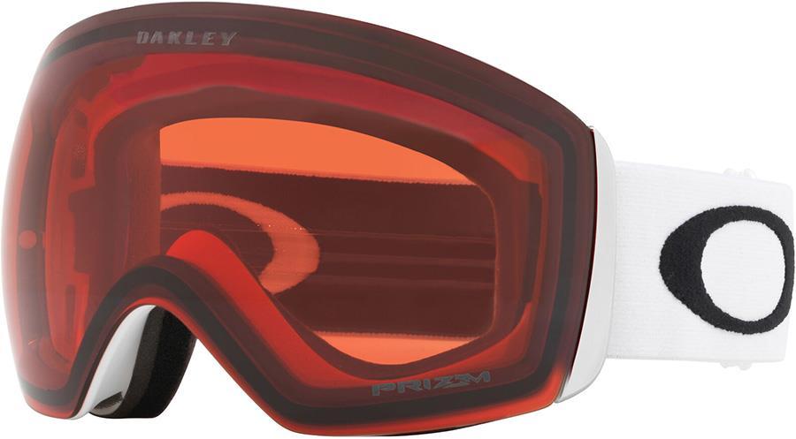 Oakley Flight Deck XL Prizm Rose Snowboard/Ski Goggles, L White