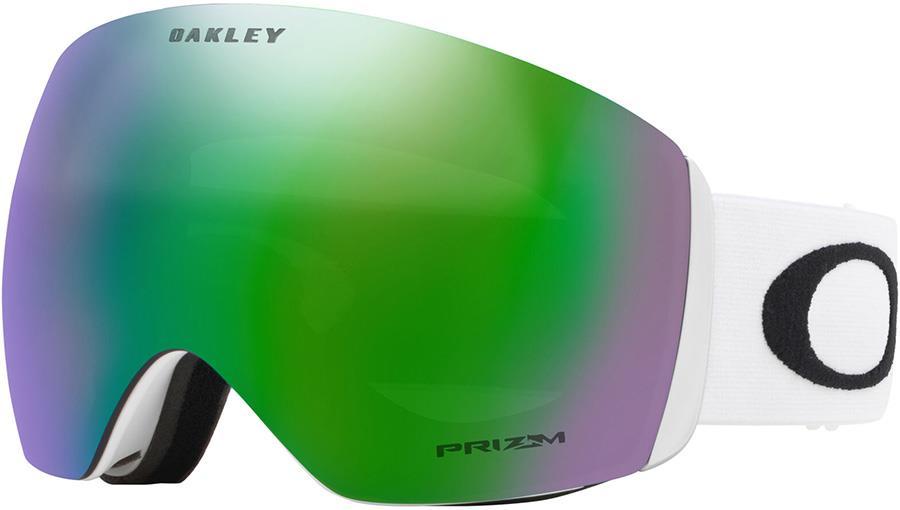 Oakley Flight Deck L Prizm Jade Snowboard/Ski Goggles, L White