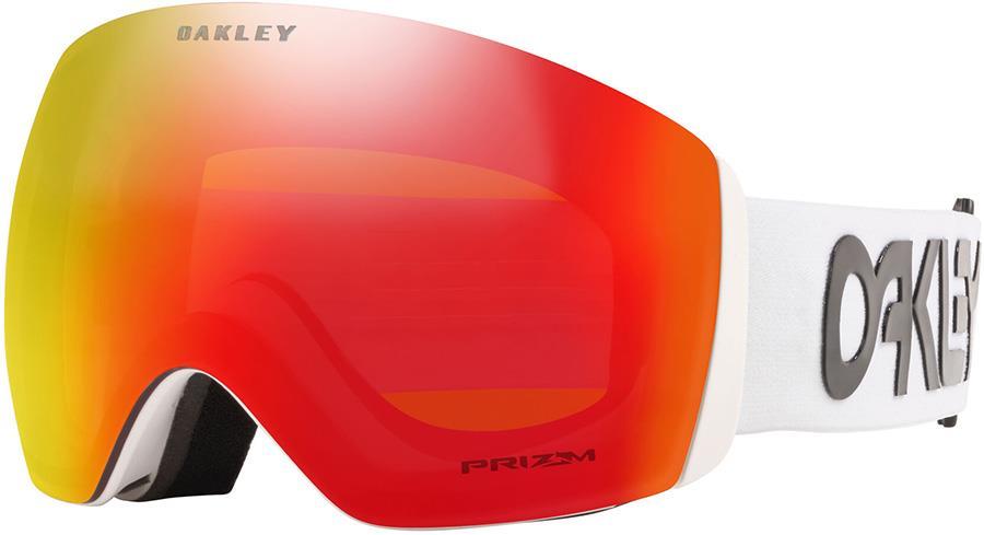 Oakley Flight Deck XL FP White, Prizm Torch Snowboard/Ski Goggles, L