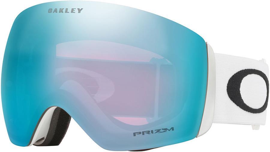 Oakley Flight Deck L Prizm Sapphire Snowboard/Ski Goggles, L White
